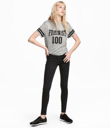 Super Skinny Regular Jeans | Svart denim | DAM | H&M SE