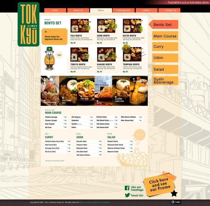 Web Design | Tokky? Restaurant | Kreavi.com