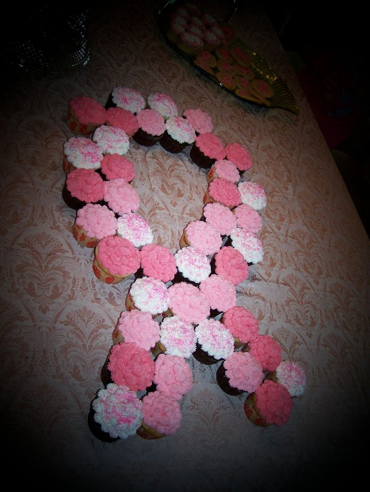 breast cancer cupcakes these in a tree would be so cool