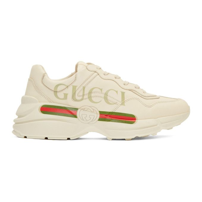 4aa02f781ca Gucci - Off-White Vintage Logo Rhyton Sneakers
