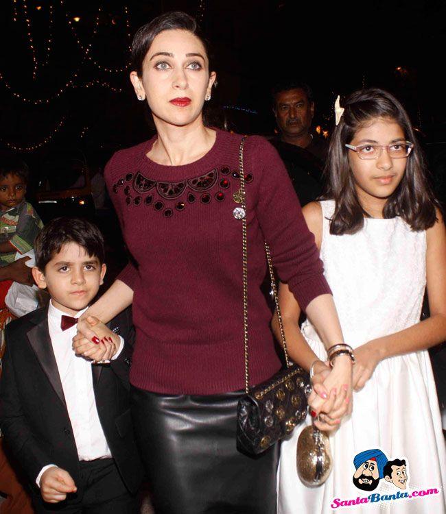 Bollywood Stars Attend Midnight Mass -- Karishma Kapoor ...