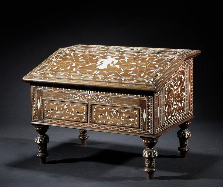 A Mysore ivory-inlaid wood Writing Desk - Southern India, circa 1880
