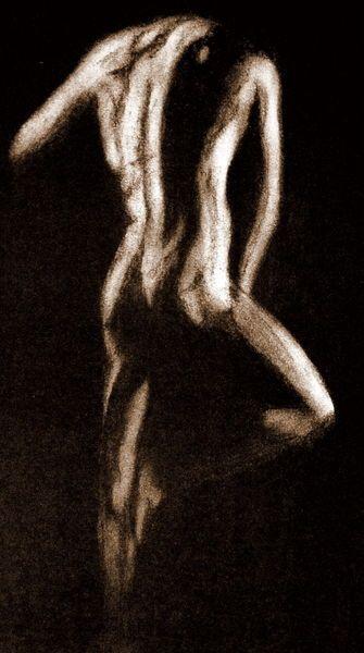 'Akt - Mann - Sepia' von Susanne Edele bei artflakes.com als Poster oder Kunstdruck $16.63