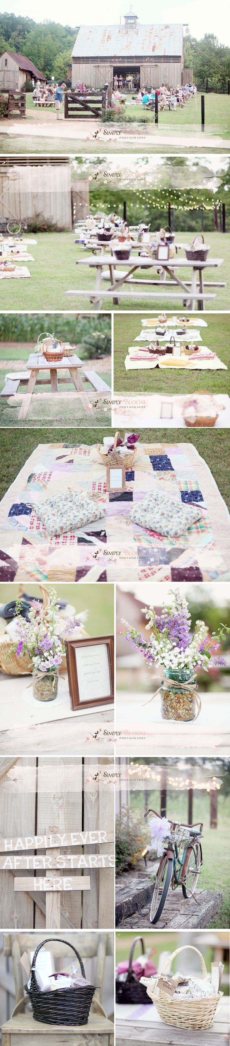25 best picnic weddings ideas on pinterest picnic wedding receptions picn - Deco table romantique ...