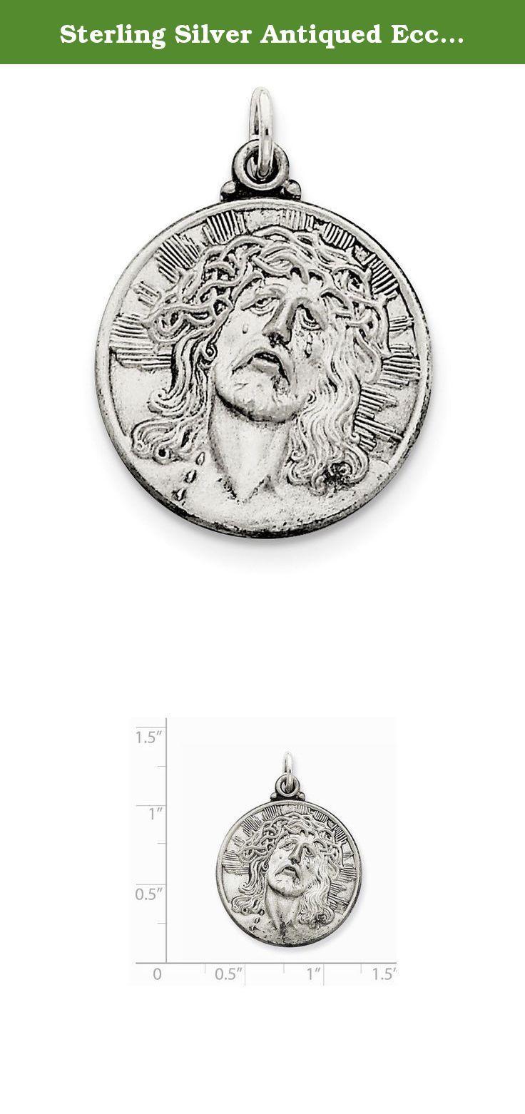 Sterling Silver Antiqued Ecce Homo Medal. Sterling Silver Antiqued Ecce Homo Medal.