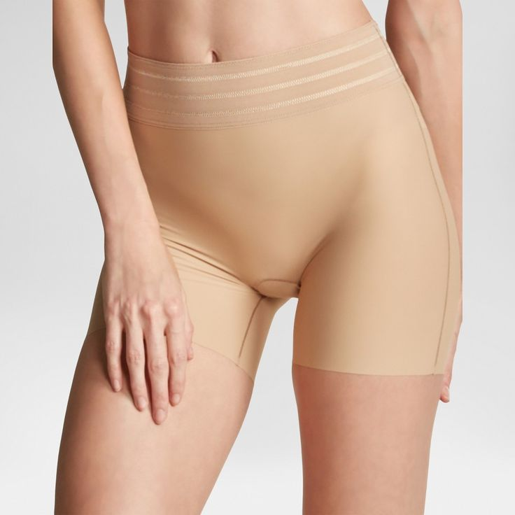 Assets by Spanx Women's Shaping Micro Girl Short - Barely XL