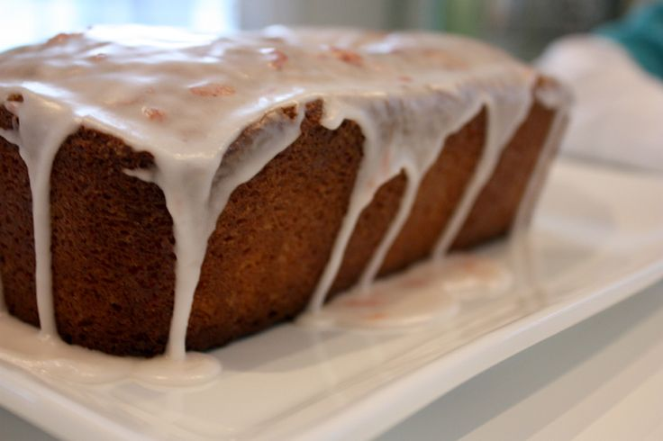 I love the way the glaze drips off the cake