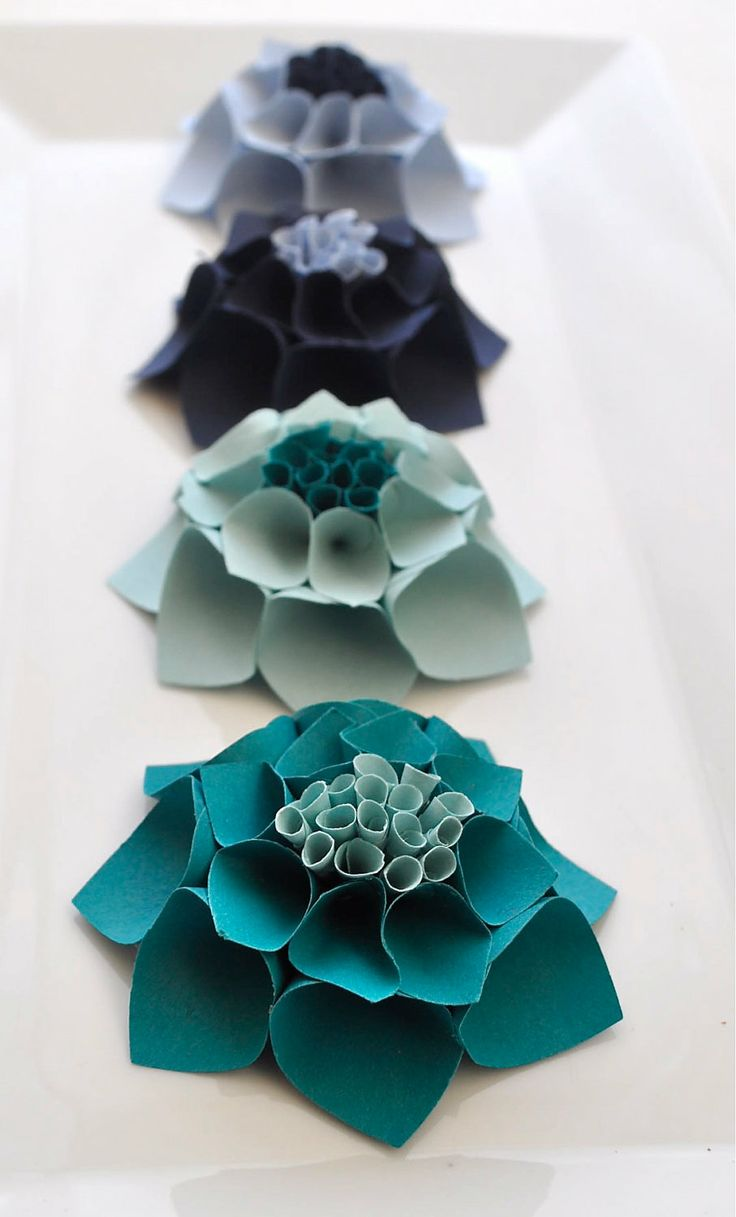 The Katie Set - Paper dahlia flower gift topper/table decor/place card