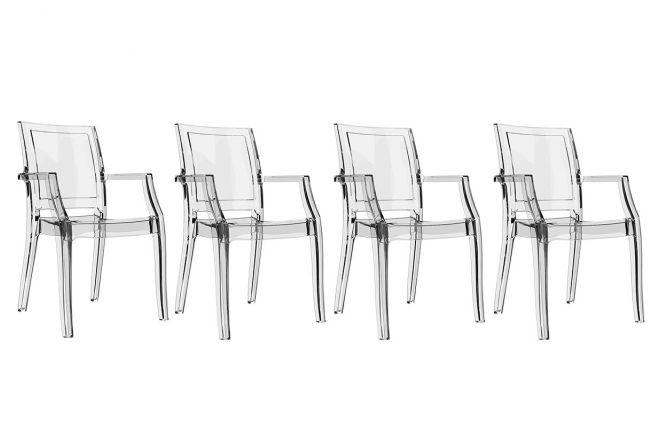 Chaises Miliboo promo chaises pas cher, Chaise design transparente lot de 4 QUADRO prix promo Miliboo 479,00 € TTC Prix conseillé : 579€ soit -17%