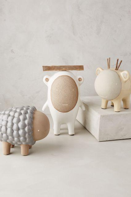 Ceramic Critter Piggy Bank - anthropologie.com