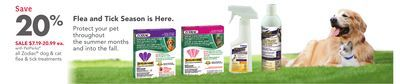 Shared from Flipp: All Zodiac® Dog & Cat Flea & Tick Treatments in the PetSmart flyer