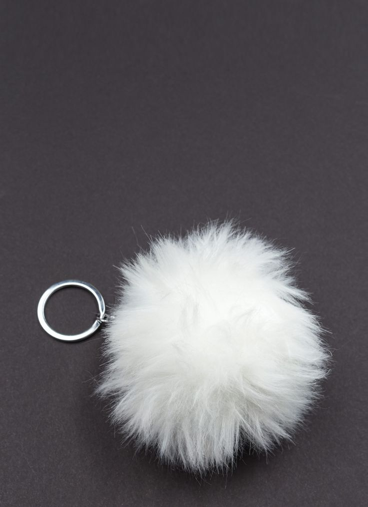 Faux Fur The Better Ball Keychain