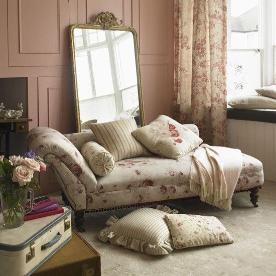 vintage country bedroom designs | Classic pink living room | Country living rooms | Living room fabrics ...
