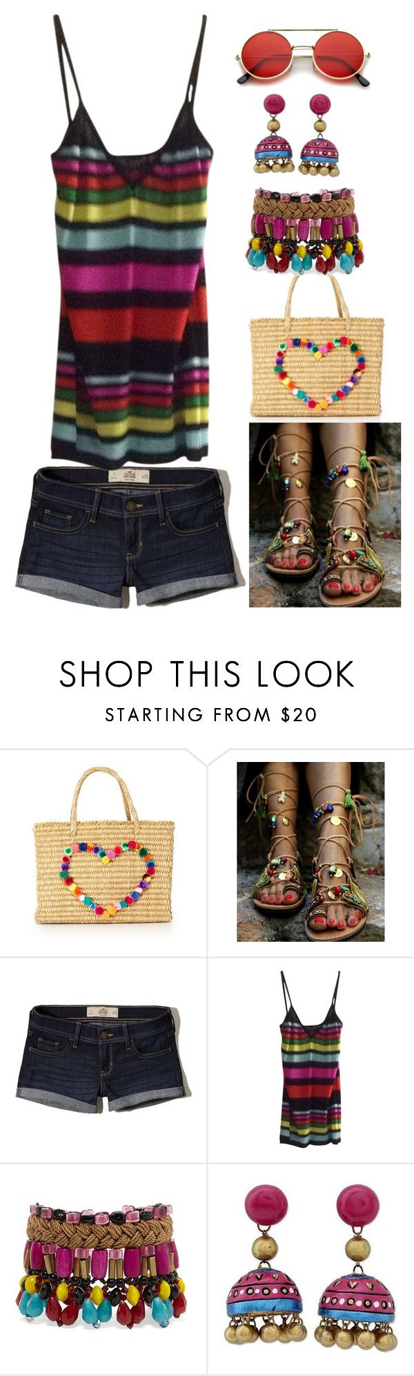 """Boémio"" by alice-fortuna ❤ liked on Polyvore featuring Nannacay, Hollister Co., Dolce&Gabbana, Etro, NOVICA and ZeroUV"