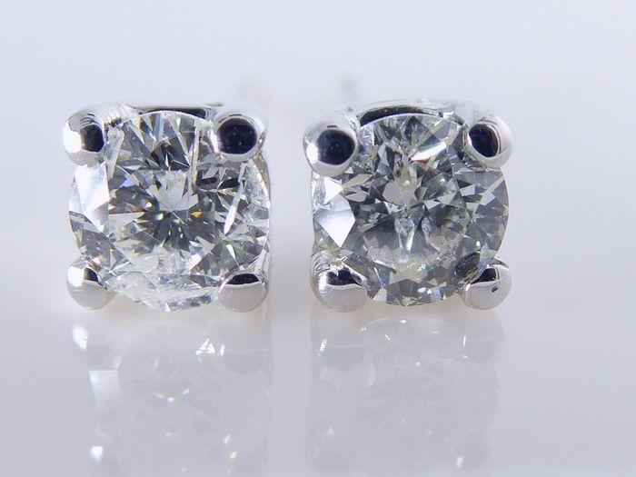Witgouden solitair oorstekers gezet met 2 briljant geslepen diamanten 0.52 totaal ZONDER RESERVEPRIJS   slijpsel : briljant gewicht : 2 stenen totaal 0.52 ctKleur :FZuiverheid :PIWordt geleverd in sieraden etuiVerzending : track & trace verzekerdE0447  EUR 240.00  Meer informatie