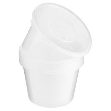 Round Microwavable Container 550ml 8 Pack