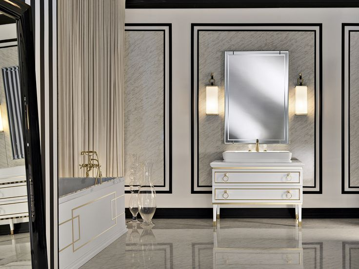 Luxury Bathroom With Oasisu0027s Elegant Bath Vanity / Lutetia Collection