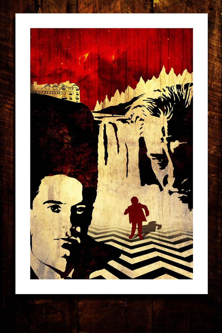 The piece celebrates the return of Twin Peaks to Showtime in 2016. This 13x19 poster is signed by the artist.