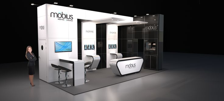 Exhibition Booth Design Uk : Image möbius m modular exhibition stand without