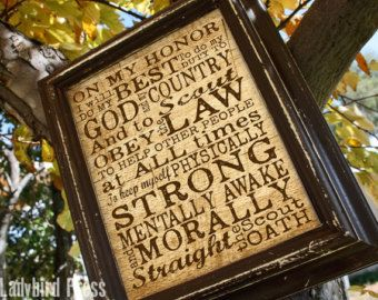Printable Scout Oath - Court of Honor - Scout Oath -  Sign - Eagle Scout -Gift - PDF - Instant Download