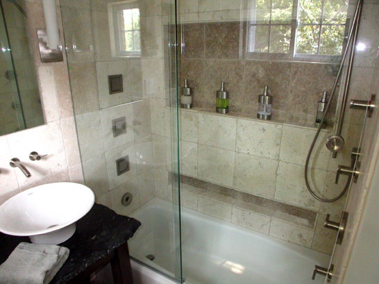 43 best shower ideas images on pinterest bath remodel for Small bathroom goals