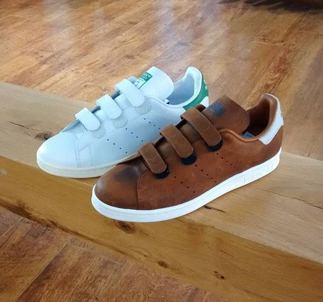 Strapped Stan Smiths. Looking good!! #sneakers