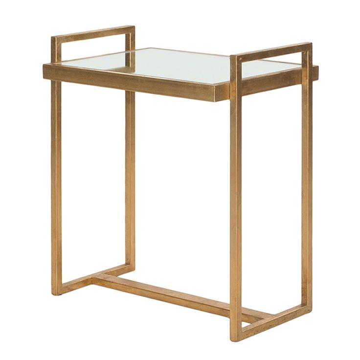 Bijzettafel Noland - goudkleurig/spiegelglas