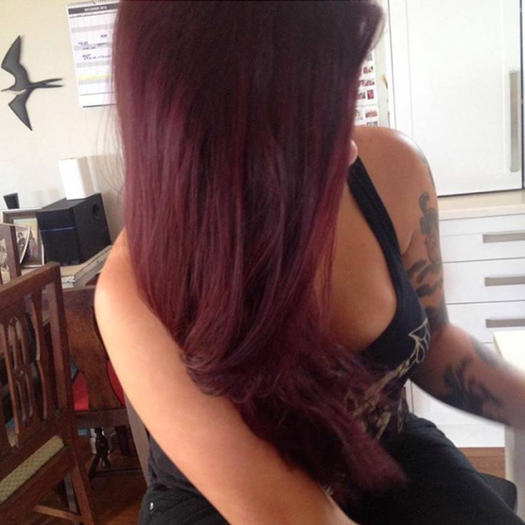 Said #%*# it and got my hair dyed thanks to Cat at Hue Mt Eden #burgundy #lovingit