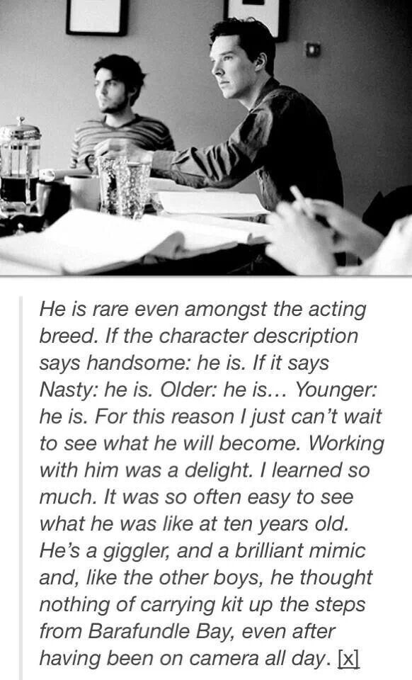 This is why I love Benedict Cumberbatch, don't EVER tell me I only love him because he is British and on tv. He is an amazing man and an excellent actor and YES. he is good looking