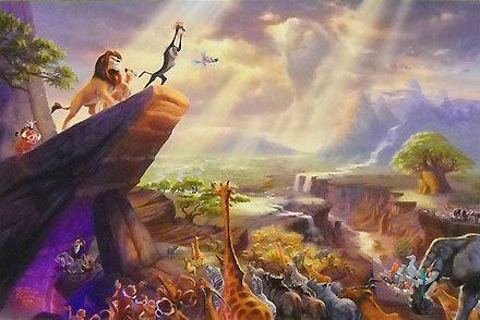 The Lion King - Thomas Kinkade - World-Wide-Art.com #Disney #Kinkade
