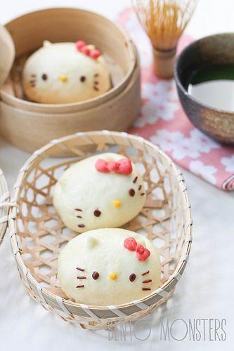 Hello Kitty Steamed Chicken Bun: Recipe & tutorial