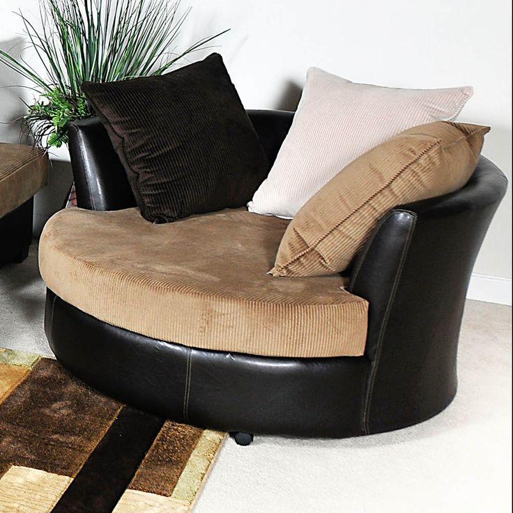 modern chairs for living room%0A Chelsea Home Furniture Benchmark Havana Ecru Domino Swivel Club Chair