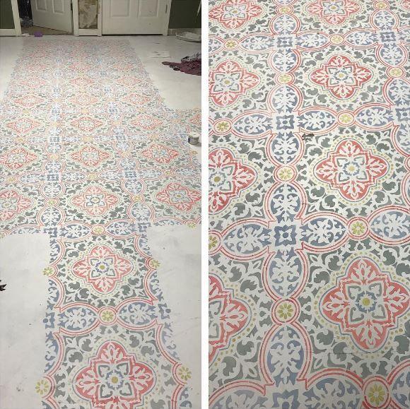 Anatolia Tile Stencil Stenciled Floor Interior Design Courses