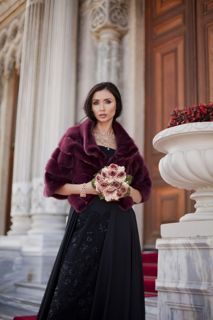 With #ADAMOFUR you will be the most beautiful guest on wedding and red carpet. Burgundy mink fur coat available at our stores and via What's App