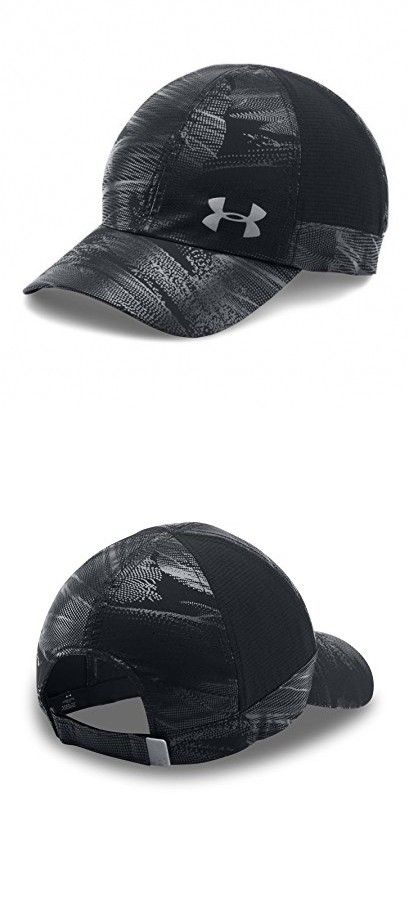 03c6e589 Under Armour Women's Fly By ArmourVent Cap, Black/Black, One Size ...