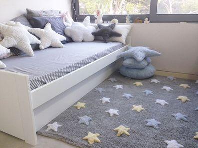 DECOILUZION - Alfombra habitación niño Estrellas tricolor