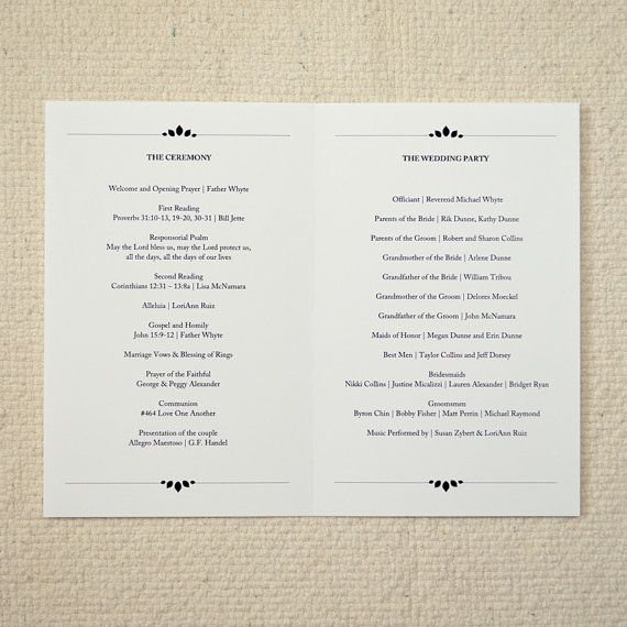 25 best ideas about order of service template on for Wedding processional order template