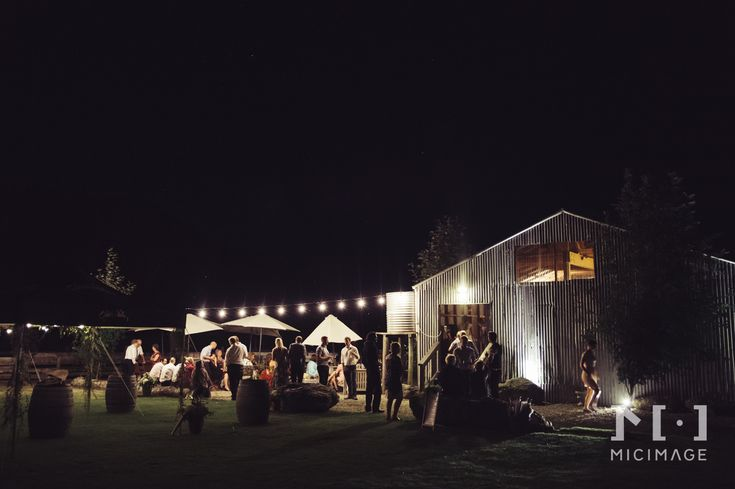 Evening wedding reception for Dave and Becky at Criffel Station Woolshed