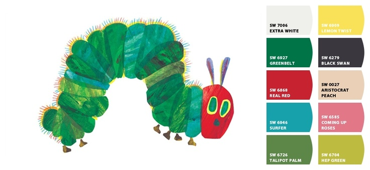 Very Hungry Caterpillar Paint Colors!