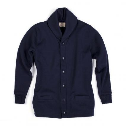 Dehen 1920 Shawl Neck Sweater Coat in Navy – AVAILABLE NOW