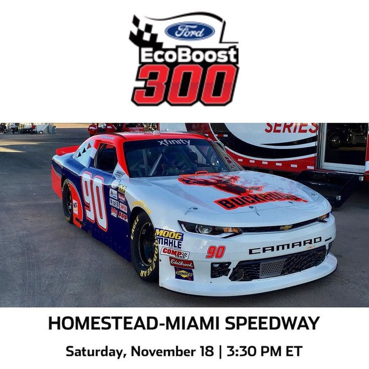 We hope you had a chance to catch Mario Gosselin in the BuckedUp Car today in the Xfinity Series Ford ECO Boost 300 at the Homestead-Miami Speedway!  Remember to shop at BuckedUpApparel.com #getbuckedup #buckedup  #nascar #race #iwanttogofast #MarioGosselin