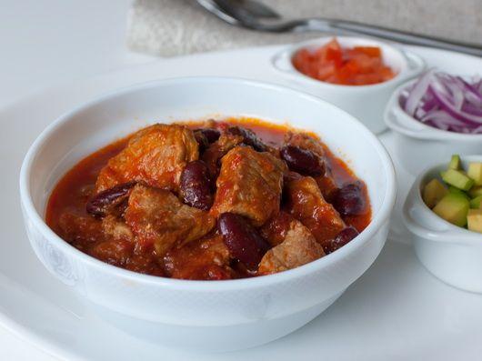 Чили из свинины кусочками