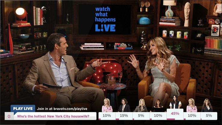 """A Second Screen You Can't Not Watch: Bravo's """"Play Live"""" Adds Polls, Games to All Its Shows"""