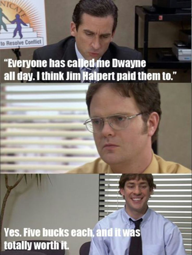 Jim's pranks on Dwight The office jim, Office memes