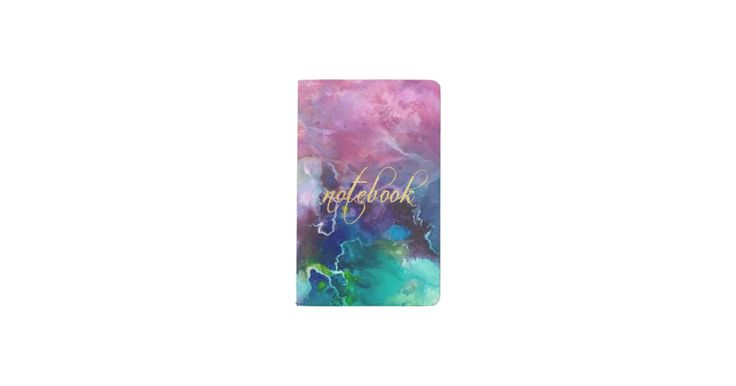 """Ink colorful purple gold texture pattern paint pocket moleskine notebook on zazzle.com for ($25), perfect gift for anyone, This fully customizable notebook will be your personal style statement everywhere you and your thoughts go! Specifications - - Dimensions: 5.75"""" l x 3.75"""" w - Available in two additional sizes - MOLESKINE® Cahier Pocket Notebook with soft covers and 64 ruled pages - Made from sustainable Eco-friendly material, sealed with vinyl"""