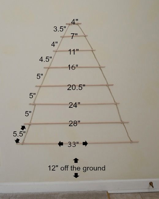 dowel christmas tree - Google Search
