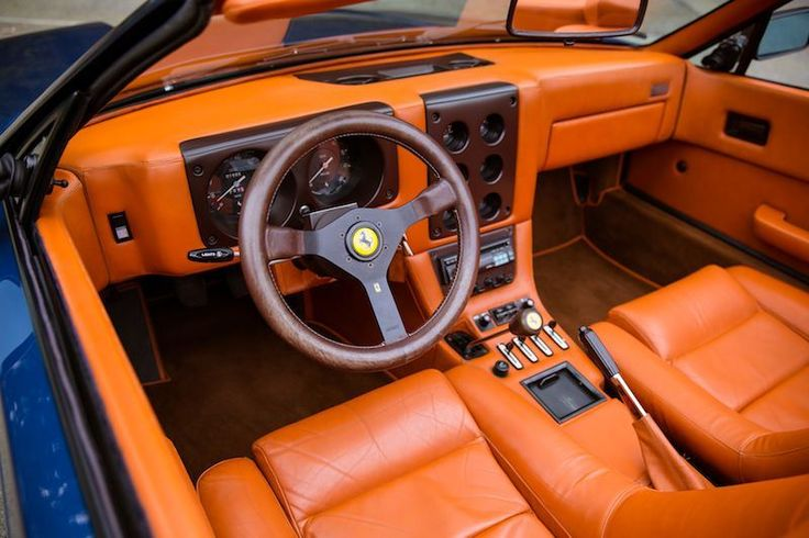 Simple Ferrari Style Car Interior Oldschool Fancy Old Sport