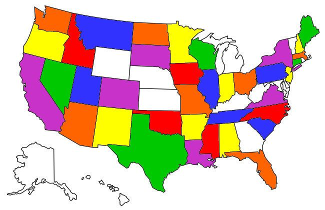 A map of which states have legalized fireworks. My Visited States Map States Visited Map Us State Map Usa Map