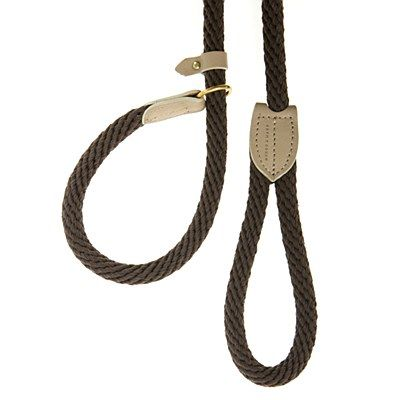 Rope Control Lead Chocolate 120cm