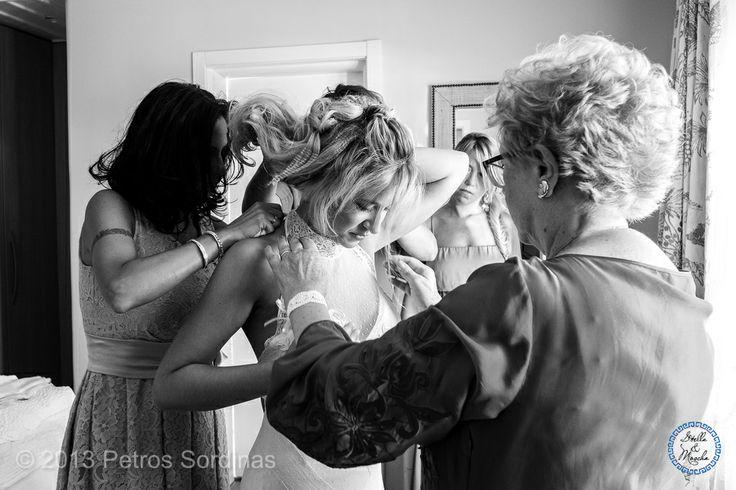 Bride getting ready   Mykonos Wedding @ Santa Marina by Stella and Moscha - Exclusive Greek Island Weddings   Photo Petros Sordinas